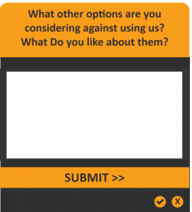 Gather visitors insights with open questions