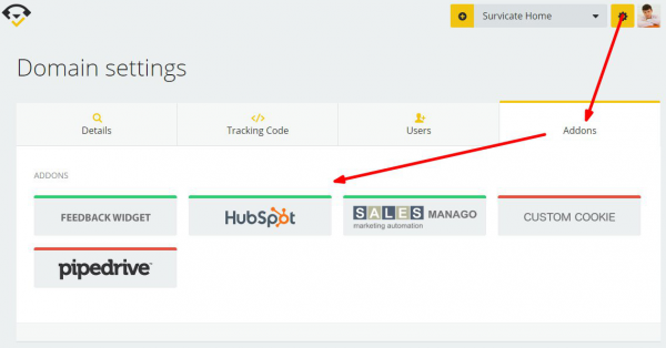 HubSpot integration - Survicate dashboard