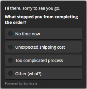 what is preventing from completing the order