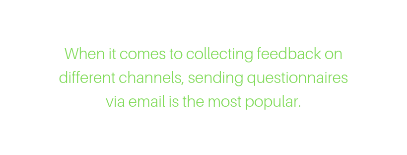 questionnaires and surveys are the most popular ways to collect customer feedback via email