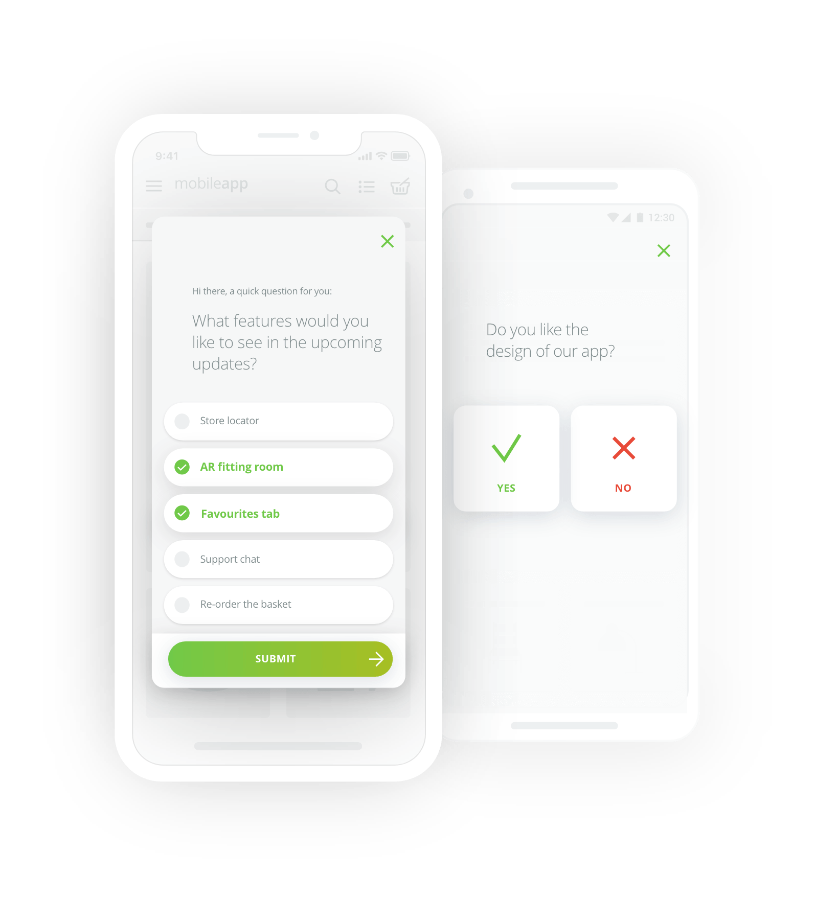 single-choice mobile surveys
