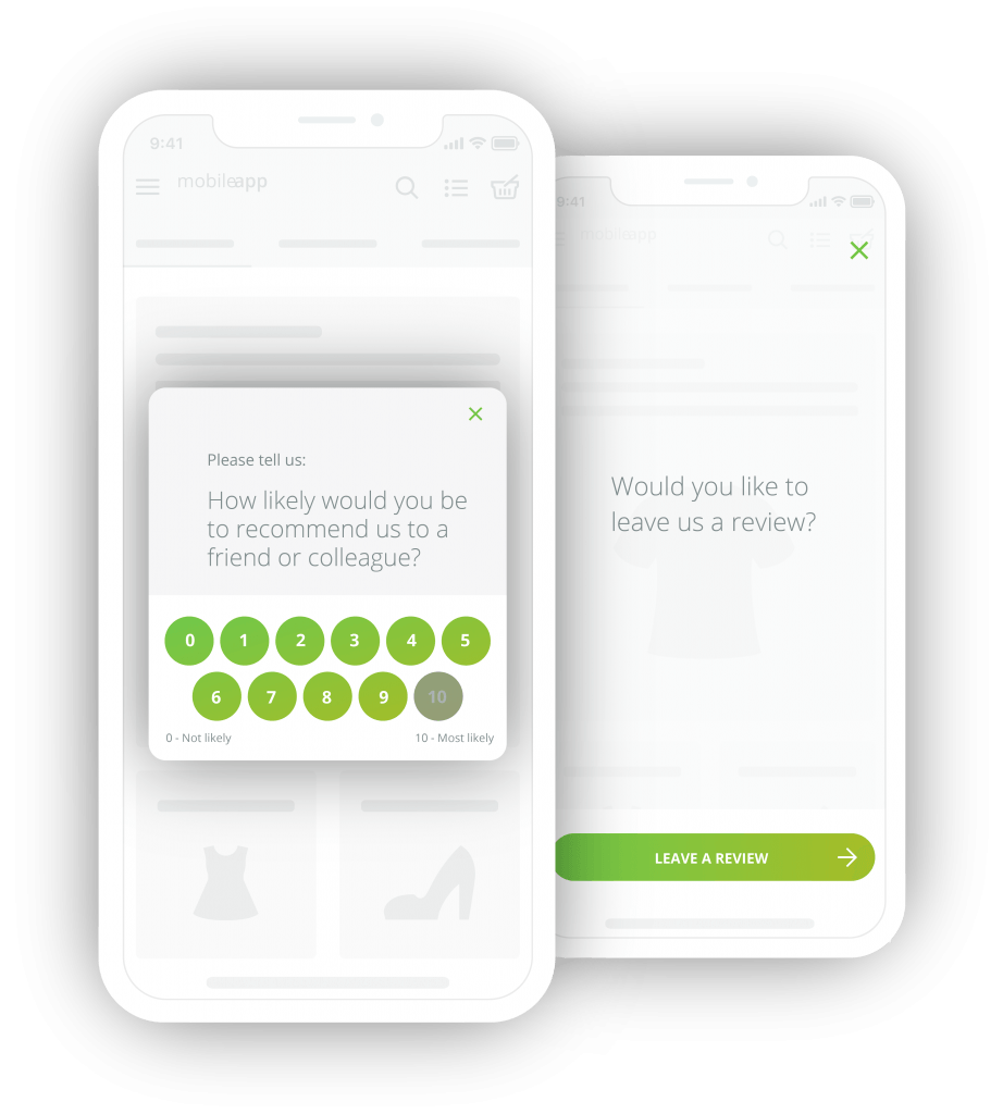 mobile app survey questions, improve rating