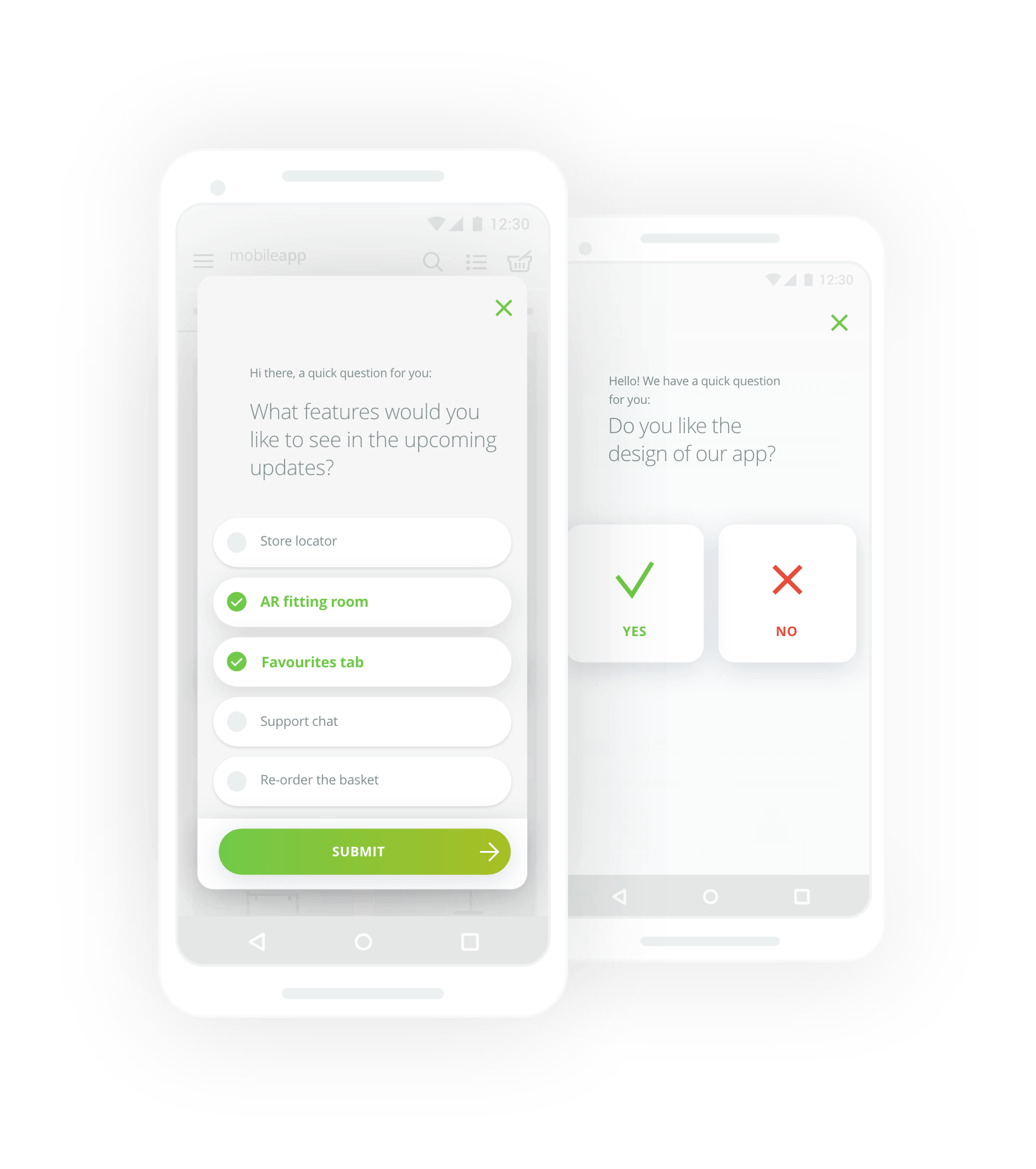 single-choice mobile surveys on android
