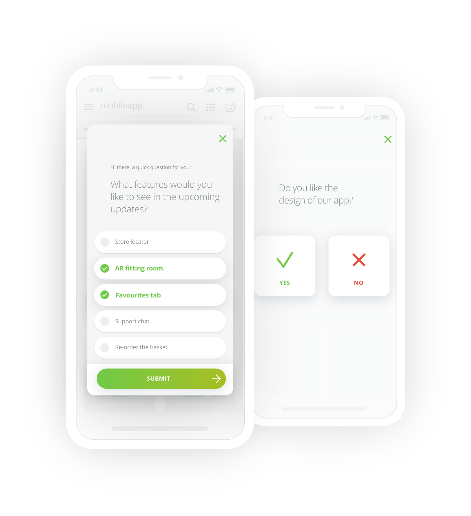 single-choice iOS mobile surveys