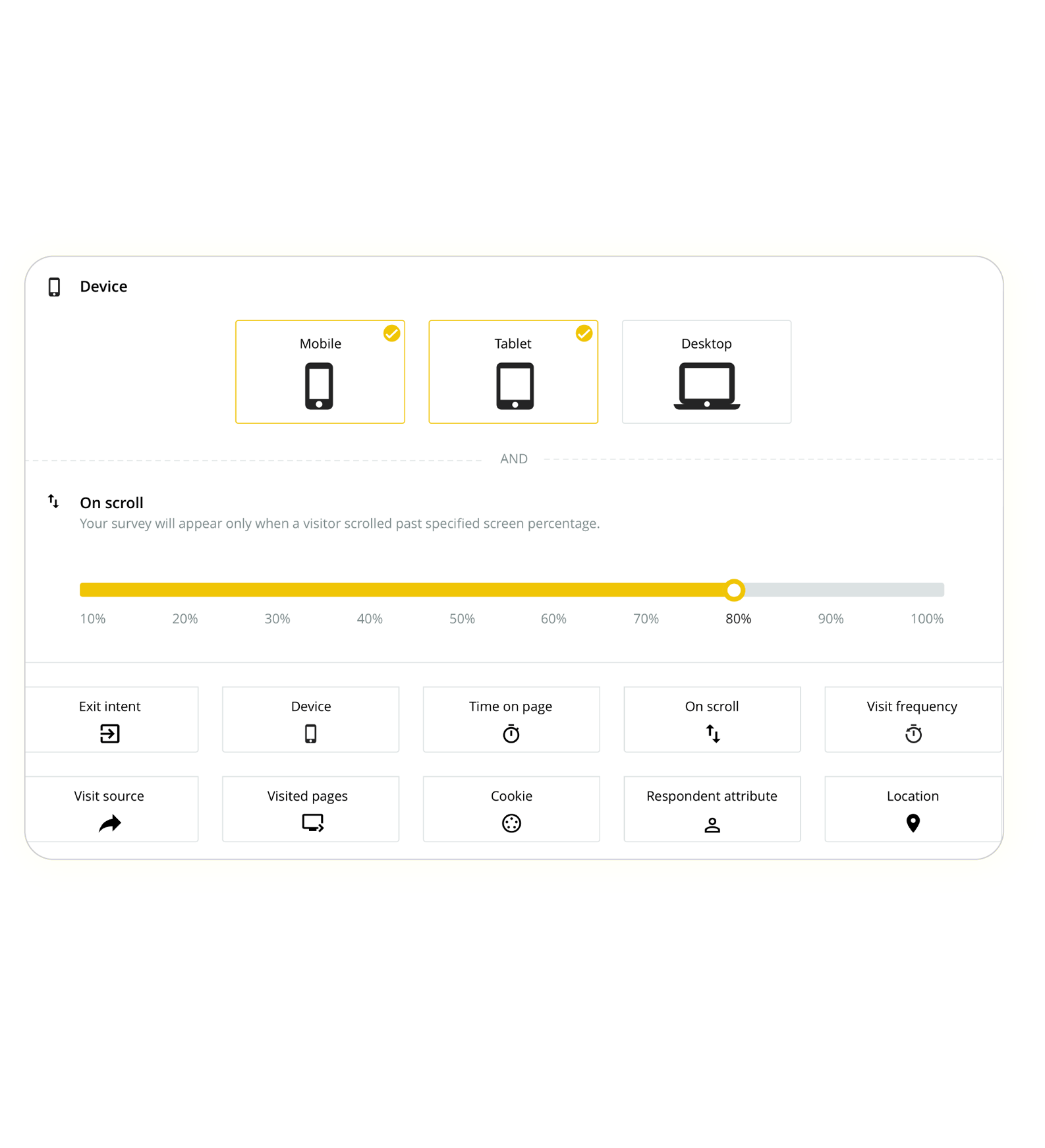 one-click email survey analytical dashboard