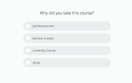 Example of a course evaluation survey