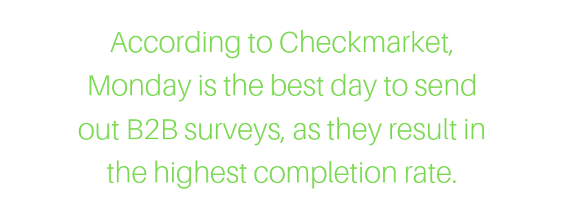 best day to send b2b surveys for the highest completion rate