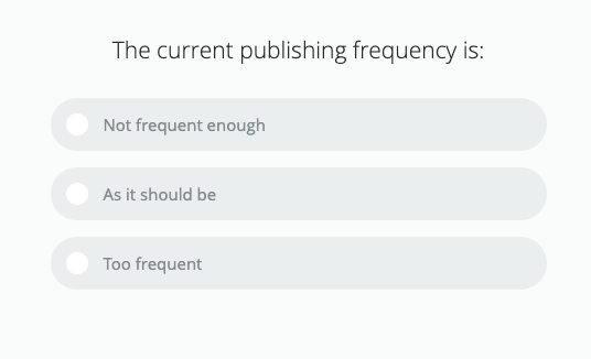 preferred communication frequency in newsletter survey question for survey ideas