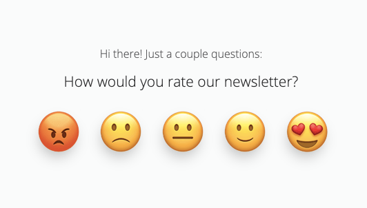 rate newsletter survey question for survey ideas