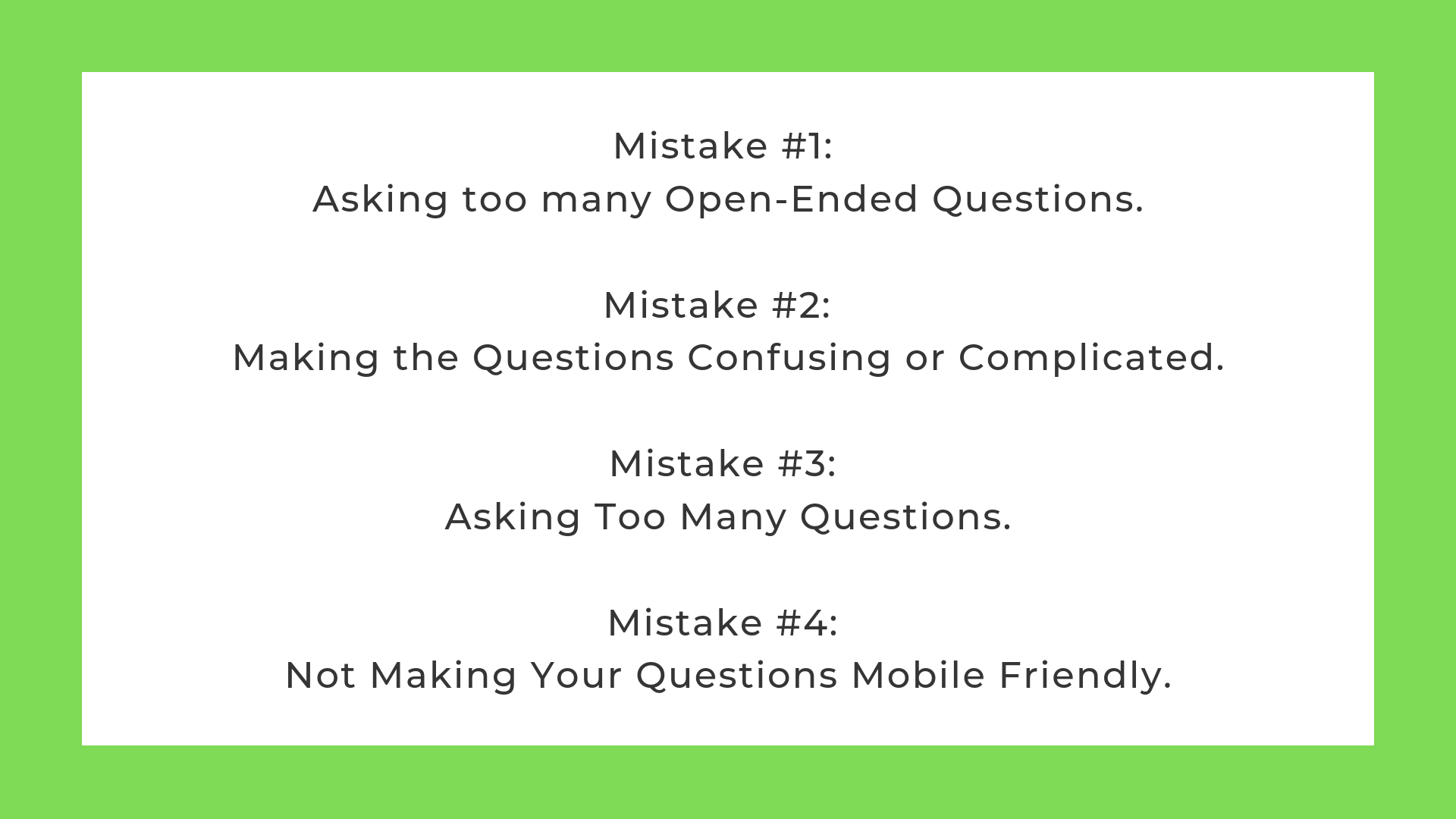Survey vs Questionnaire common mistakes