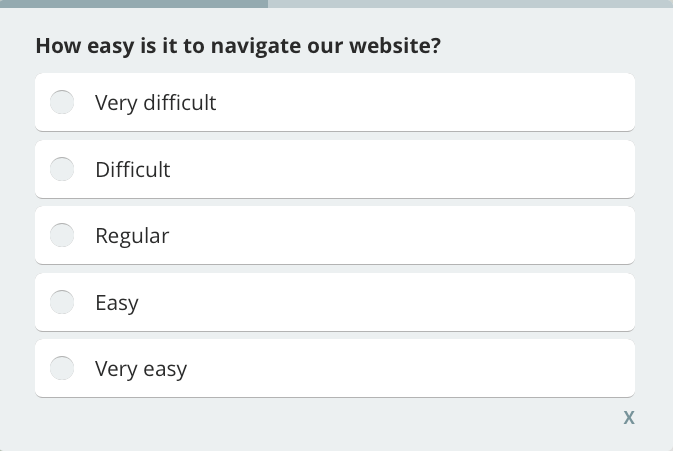 how easy is it to navigate website, customer satisfaction survey question