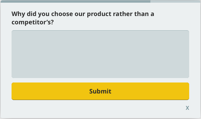 why customer choose our product, customer satisfaction survey question