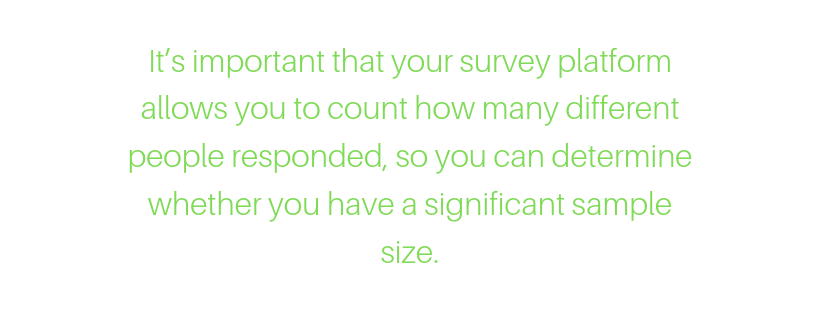 What a good survey report should include – sample size