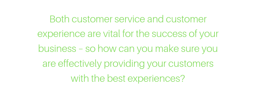 customer experience vs customer service