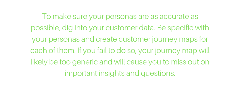 buyer persona in creating customer experience journey mapping