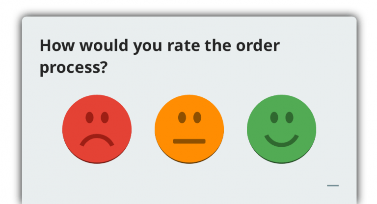 smile scale, website survey question