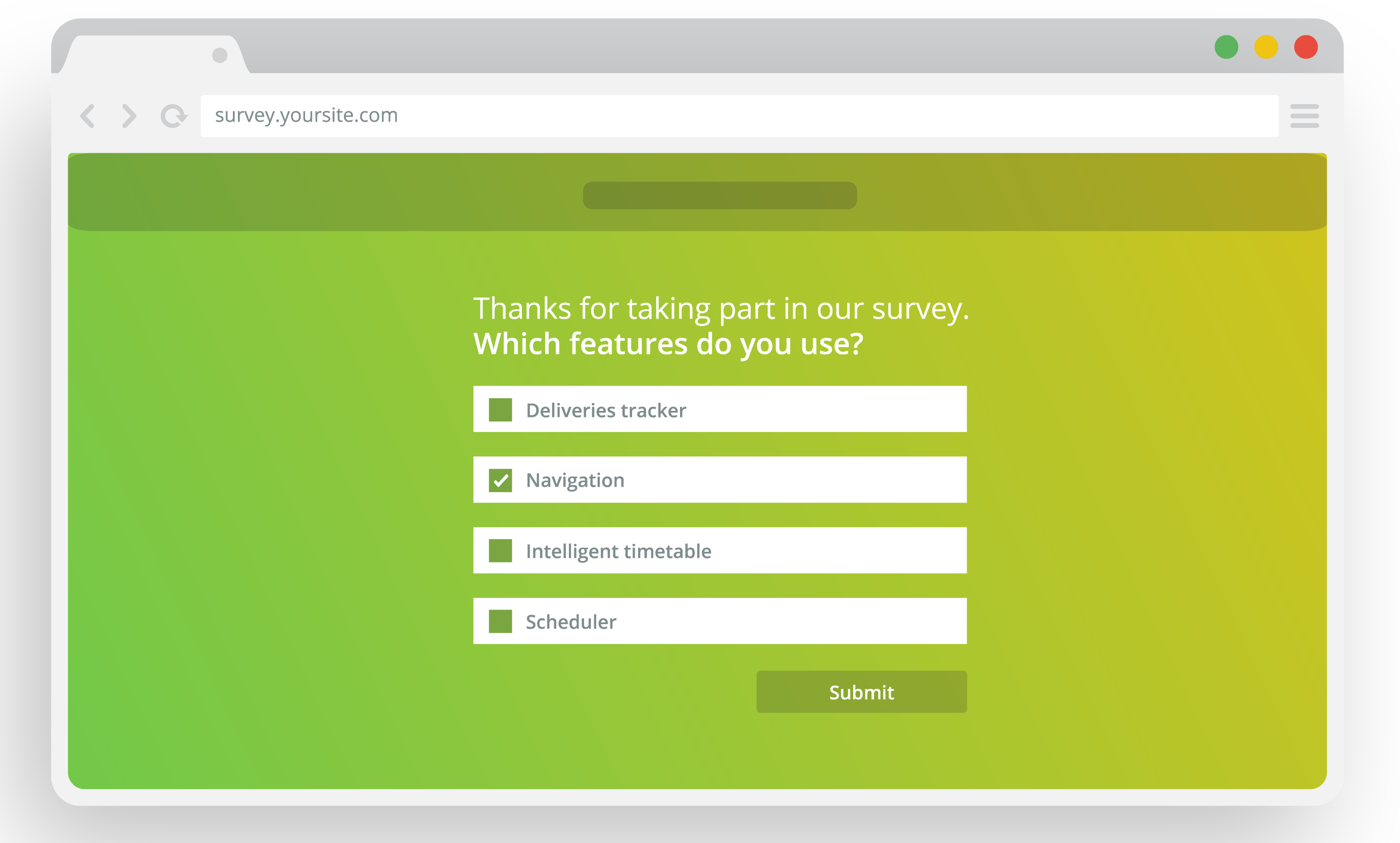 customer feedback methods, website questionnaires