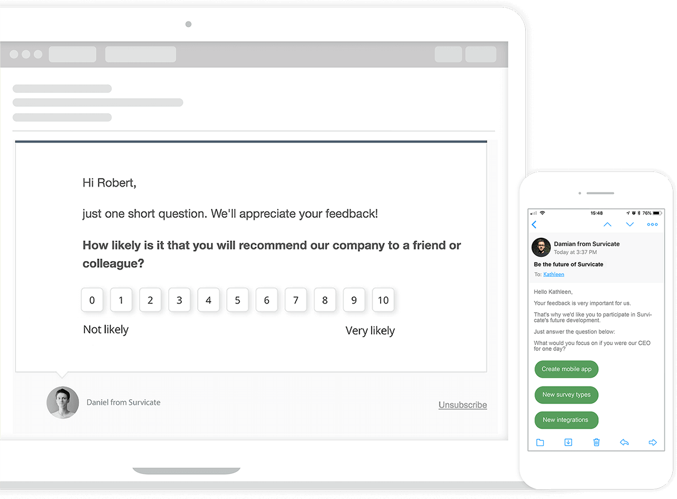 customer feedback software with email surveys