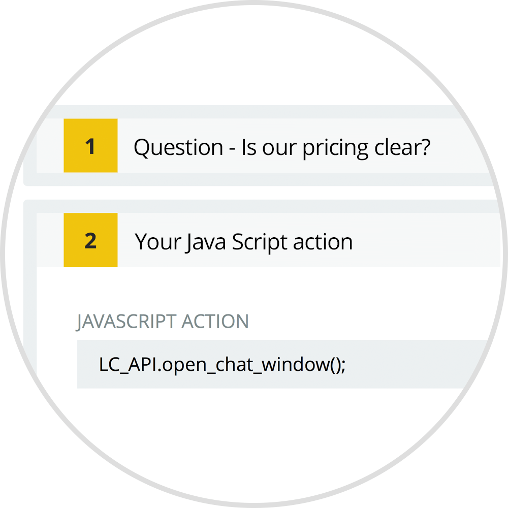 custom java script action