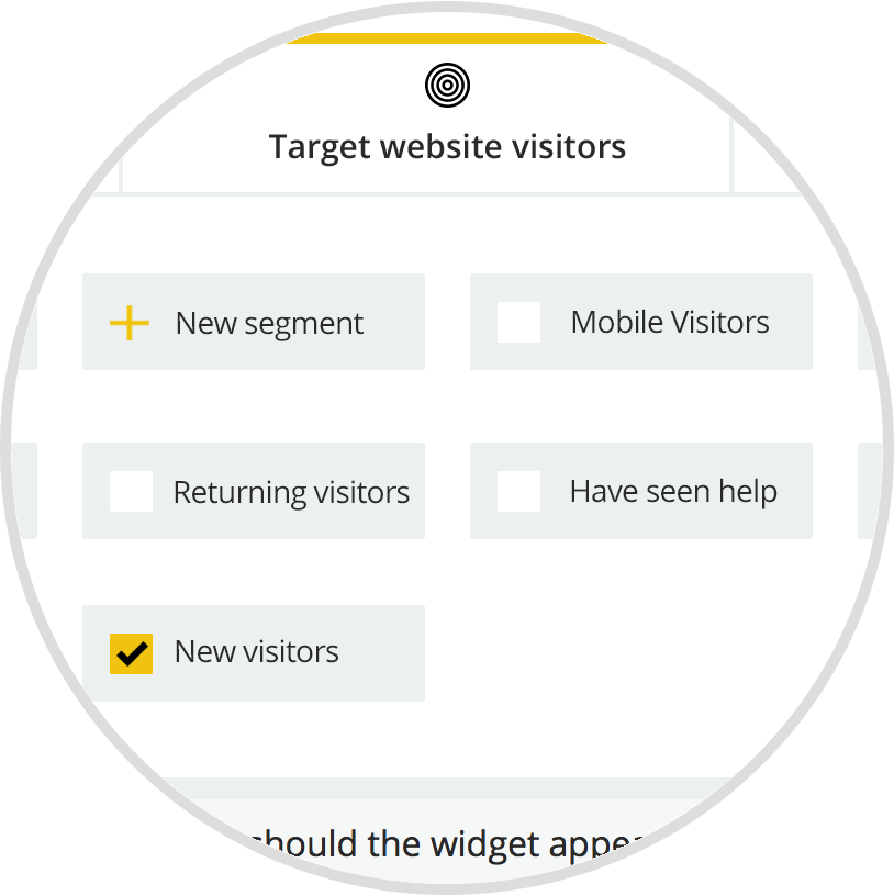 targeting based on user behavior